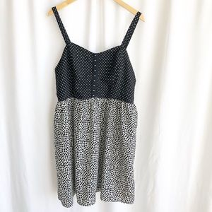 Xhilaration polka dot spaghetti strap dress